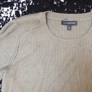 Banana Republic Sweaters - Washed olive green sweater with pieced back
